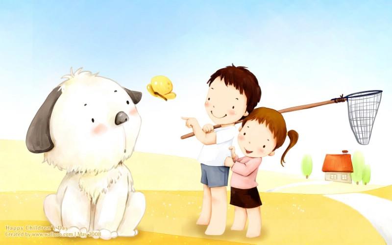 cartoon_lovely_children_vector_2968_m
